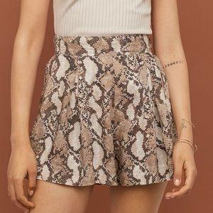 H&M | Snakeskin Print Shorts Casual Shorts Sz 8